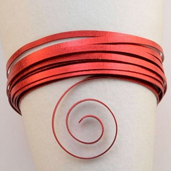 Plat embossed 5mm x 1mm - 5mtr. Red