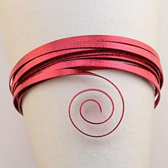Plat embossed 5mm x 1mm - 5mtr. Strong Pink