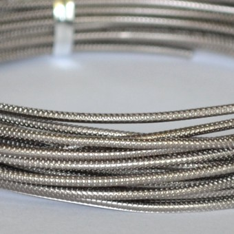 Rond embossed Ø 2mm x 5mtr. Anthracite