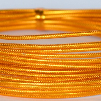 Rond embossed Ø 2mm x 5mtr.  Gold