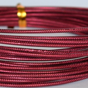 Rond embossed Ø 2mm x 5mtr. Oxblood