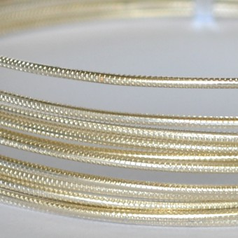 Rond embossed Ø 2mm x 5mtr. Pearl