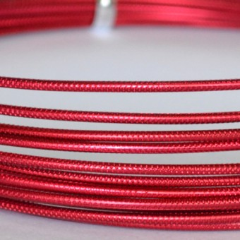 Rond embossed Ø 2mm x 5mtr. Red