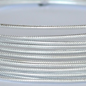 Rond embossed Ø 2mm x 5mtr.  Silver