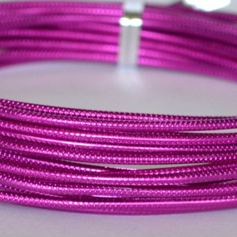 Rond embossed Ø 2mm x 5mtr. Strong Pink