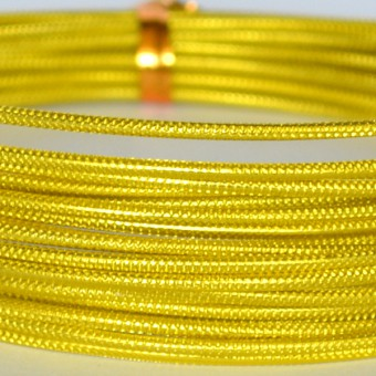 Rond embossed Ø 2mm x 5mtr. Sunny Yellow