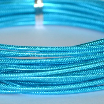Rond embossed Ø 2mm x 5mtr. Turquoise